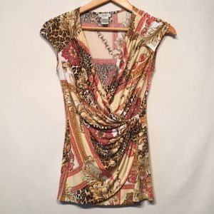 Cache Sleeveless Blouse Size Small